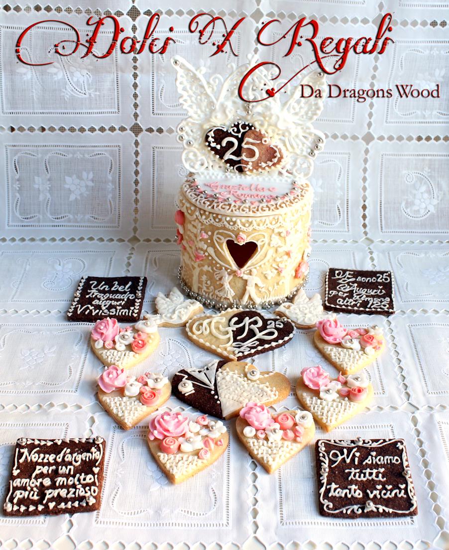 regalo di nozze d 39 argento una scatola di biscotti con
