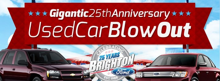 25th Anniversary Used Car Blowout Sale!