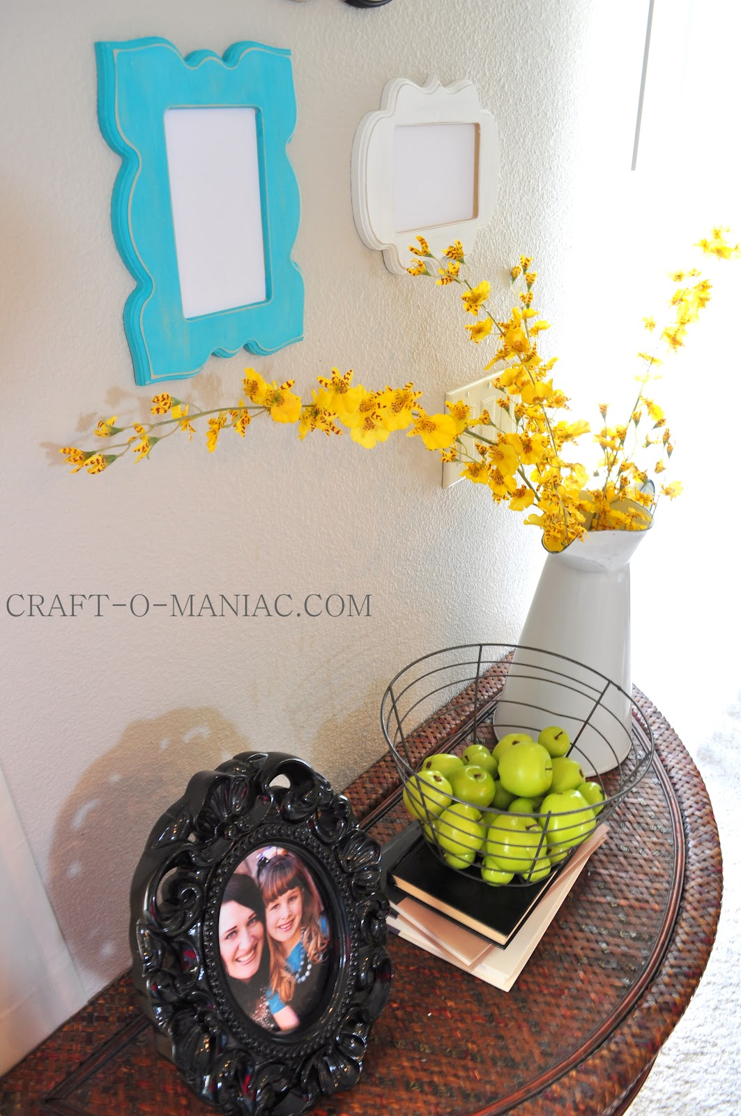 Home Decor Gallery Wall with Table Craft O Maniac