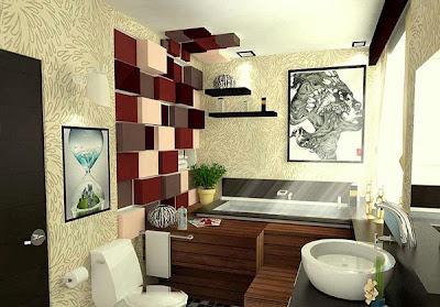 Gambar Model Desain Dinding Kamar Mandi Modern Minimalis Terbaru