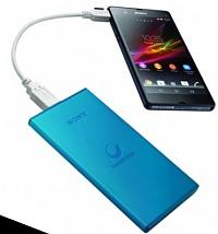 Imaginea acumulatorului portabil universal Sony, pentru incarcare smartphone si tableta