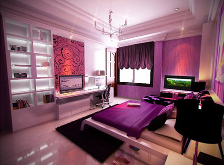 Purple Themed Bedroom Ideas For Teenage Girls | Enter your blog name