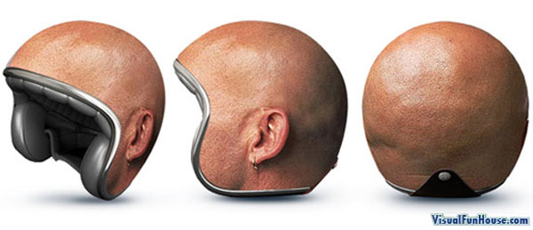 karya seni pada Topi keledar - helmet
