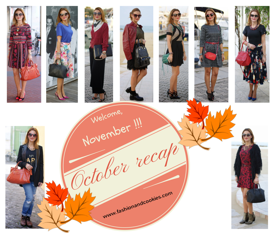 Welcome, November !, November be good to me, Fashion and Cookies, October 2014 Outfits recap, fashion blogger