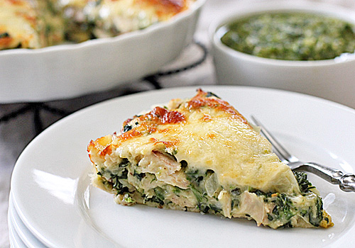 The Galley Gourmet: Chicken and Spinach Tortilla Pie with ...