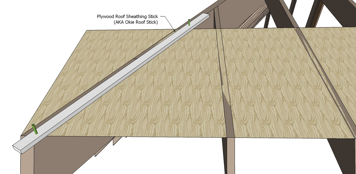 Roof framing geometry plywood roof sheathing stick for Roof sheathing material