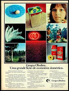 Oleo de soja Violeta, Brazil in the 70's, 1975. propaganda década de 70. Oswaldo Hernandez. anos 70. Reclame anos 70