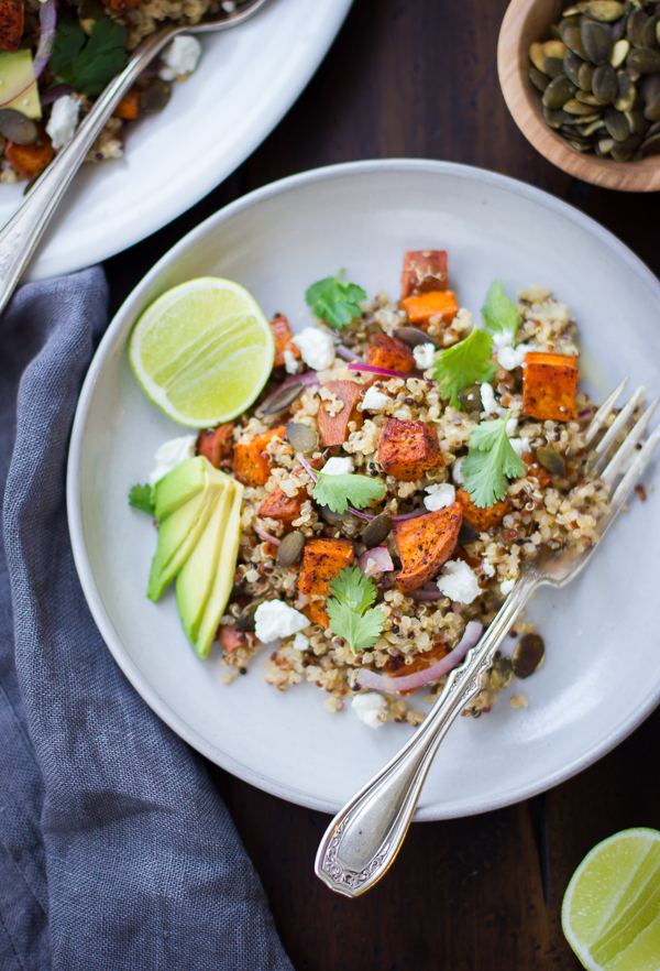 ... Gourmet: Roasted Sweet Potato and Quinoa Salad with Chile and Lime