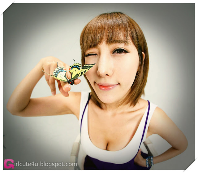3 Im Min Young - White and Purple-Very cute asian girl - girlcute4u.blogspot.com