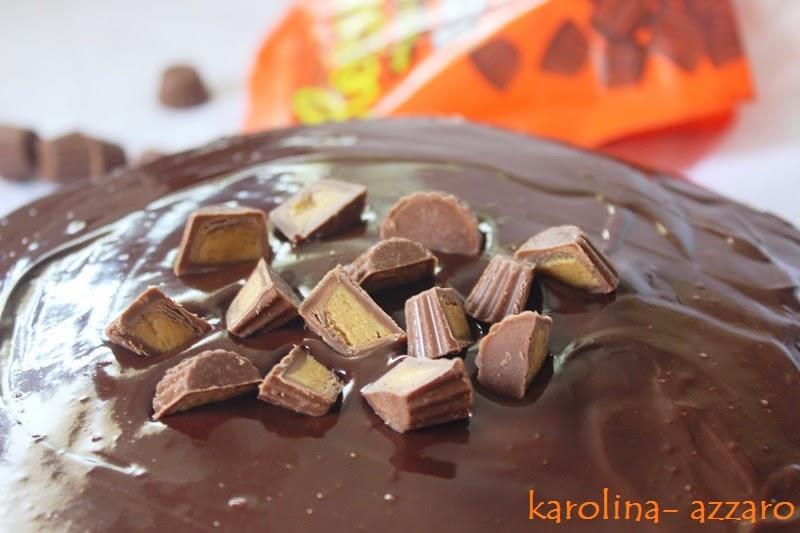 Čokoládovo peanutbutter koláč (Reese's inšpirácia)