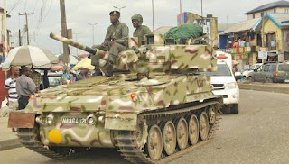 Army Deploys Armoured Tanks To The South-East Because Of Nnamdi Kalu