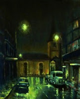 Painting Nocturnal St James Sydney