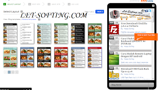 Website Penyedia Template Blog Versi Mobile