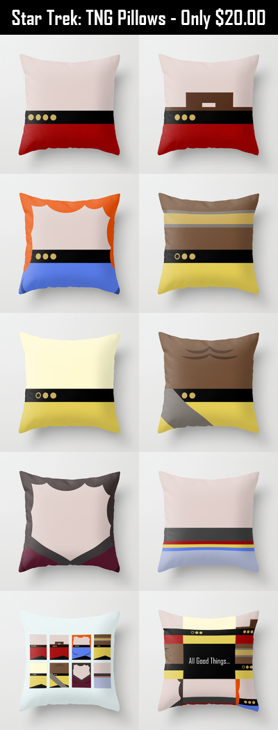Star Trek The Next Generation Throw Pillows