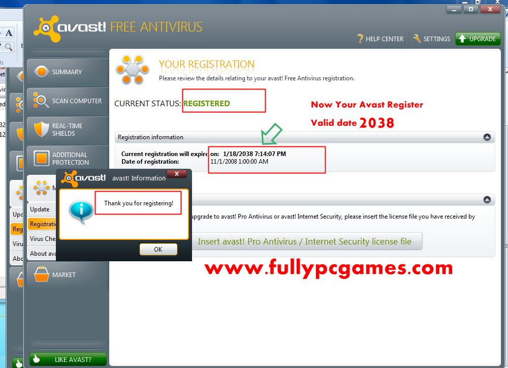avast pro antivirus beta activation code
