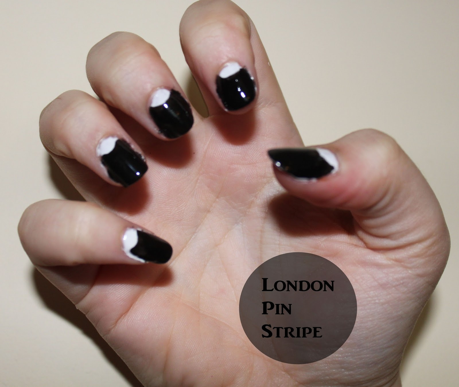 Polka Dot Half Moons London Pin Stripe