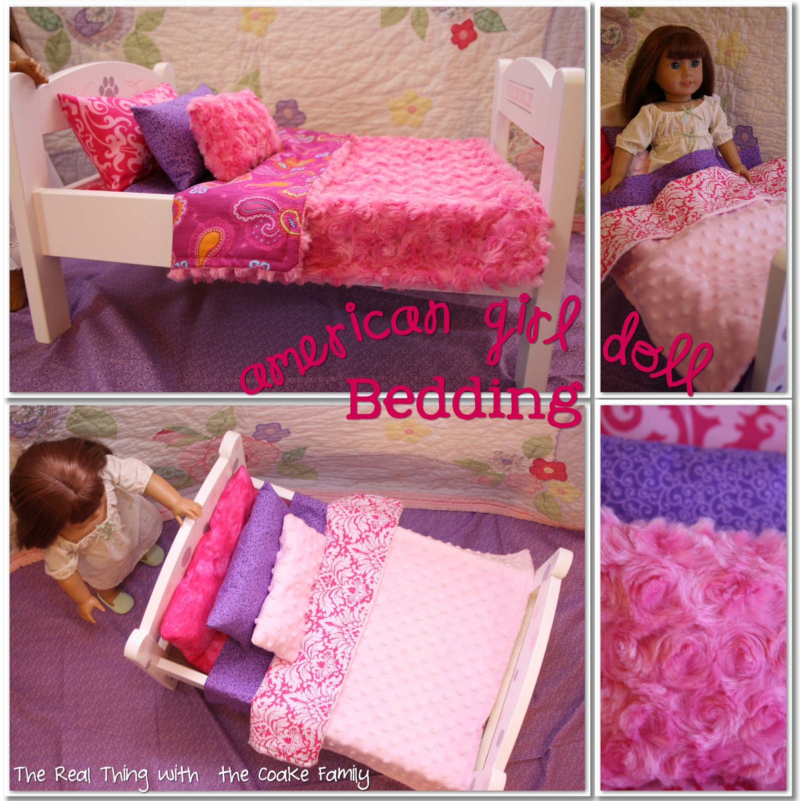 Free American Girl Doll Bedding Pattern. Sewing Pattern Very Simple And  Will Easily Re