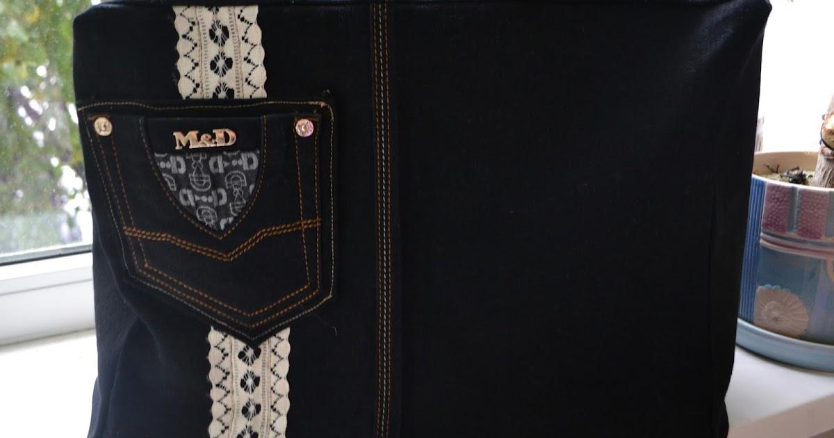 Сшить чехол для швейной машинки из старых джинсов 57