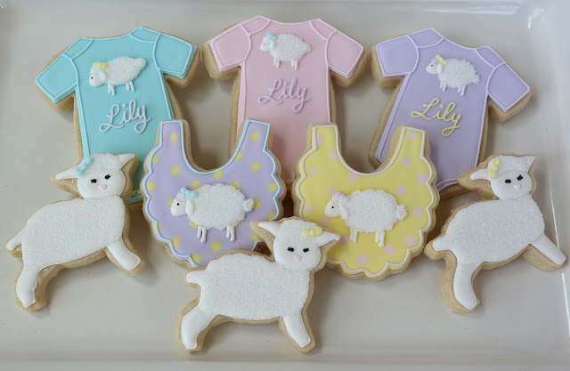 little lamb cookies for baby shower