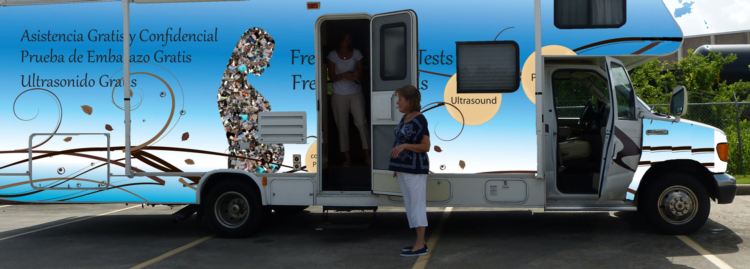 Baby Blue - Houston Mobile Pregnancy Center in an RV