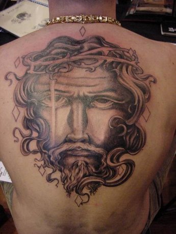 Best tattos 2011 jesus tattoo on back so realistic for Jesus back tattoos