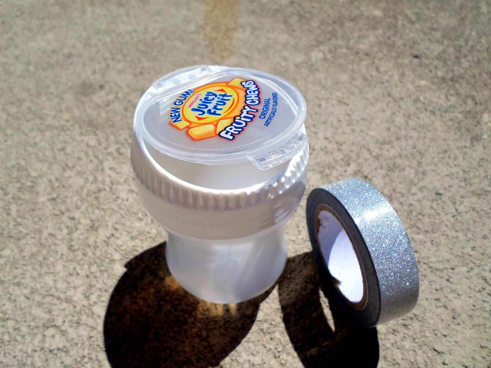 Summer Fun Juicy Fruit Gum Upcycled Container Washi Tape #JuicyFruitFunSide #shop