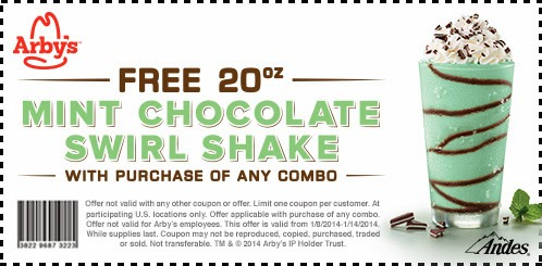 http://coupon.arbys.com/FreeMintChocolateSwirlShake01082014/
