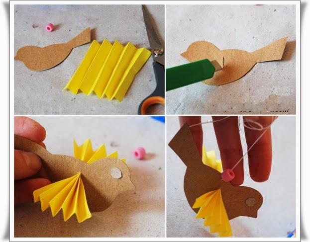 Птицы из бумаги сделать своими руками