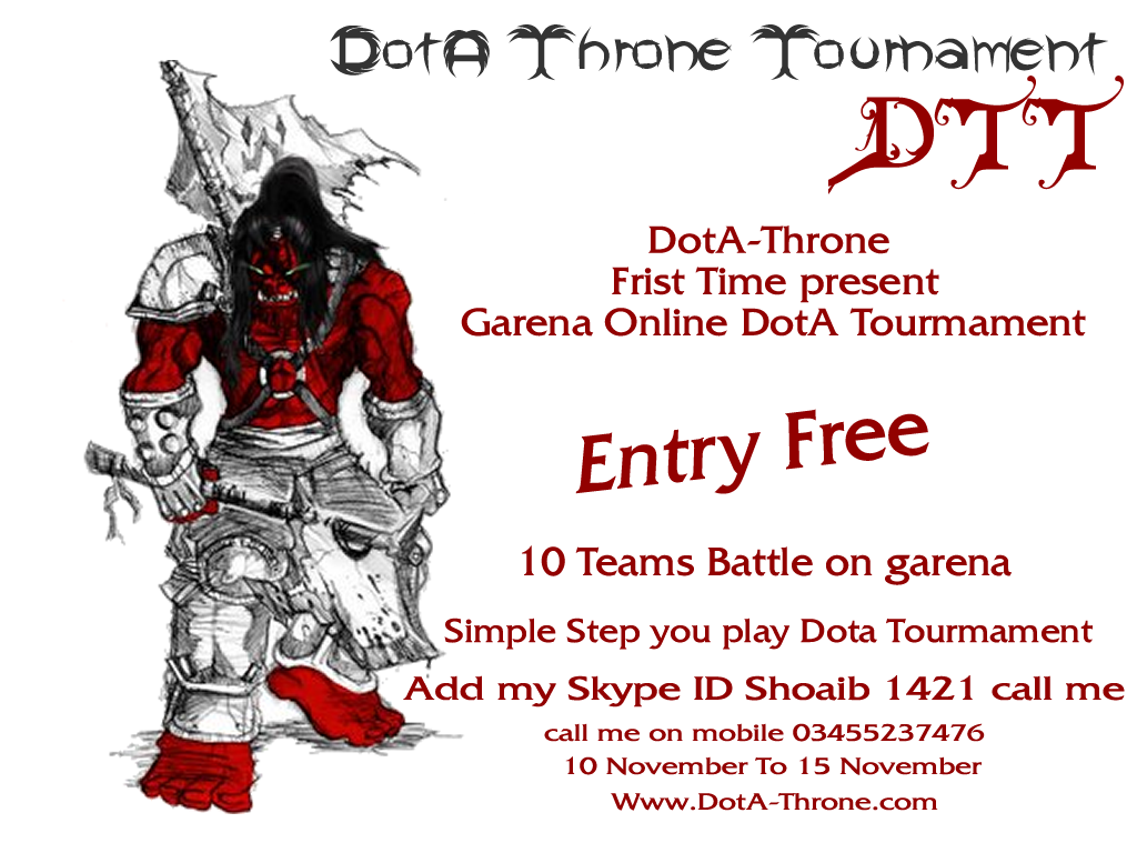 Dota-Throne - Defance Of The Ancients: Dota Throne Tourmament