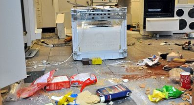 Vandalism in Huskvarna