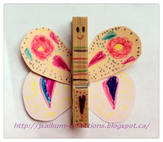 How to make clothespin butterfly tutorial