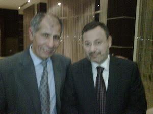 احمد منصور مع رئيس الحزب