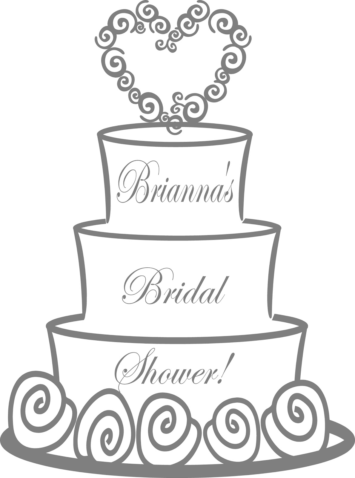 Flamingos 2 go bridal shower wedding for Bridal shower coloring pages