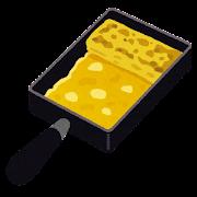 玉子焼き用フライパンのイラスト