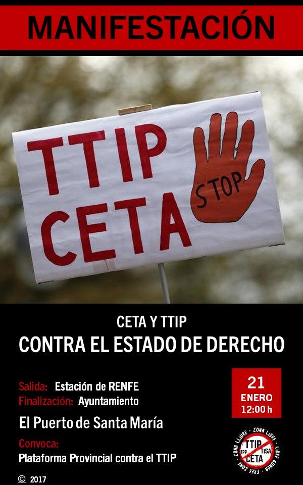 CÁDIZ 21E: ACCIONES CONTRA LA RATIFICACIÓN DEL CETA POR LA UE.