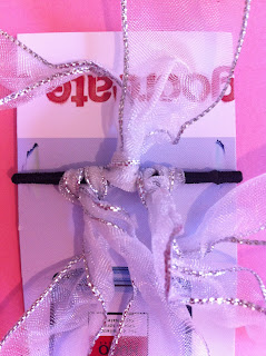 How to make hair scrunchies with tulle ribbon