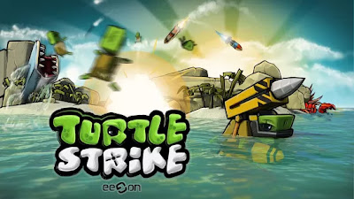 TurtleStrike game for Android devices, a multiplayer game which is a mashup of Worms and Scorched Earth of PC