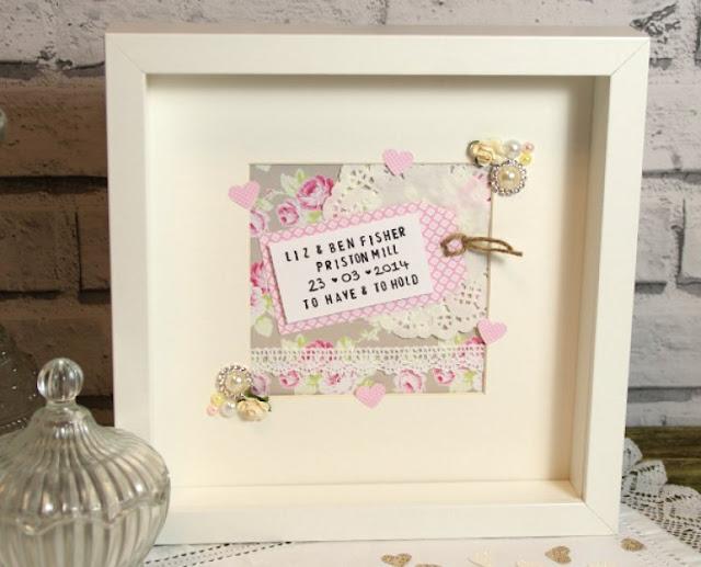 Handmade Wedding Frame Gift