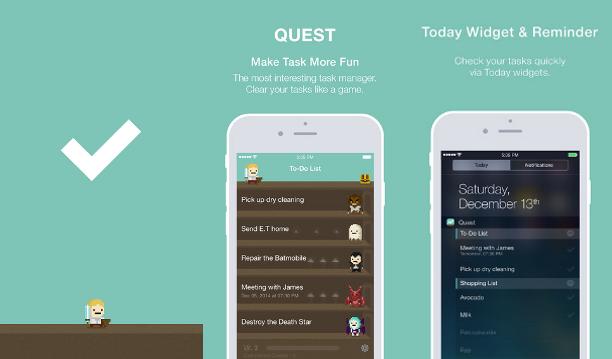promemoria, calendario, task, app, Quest