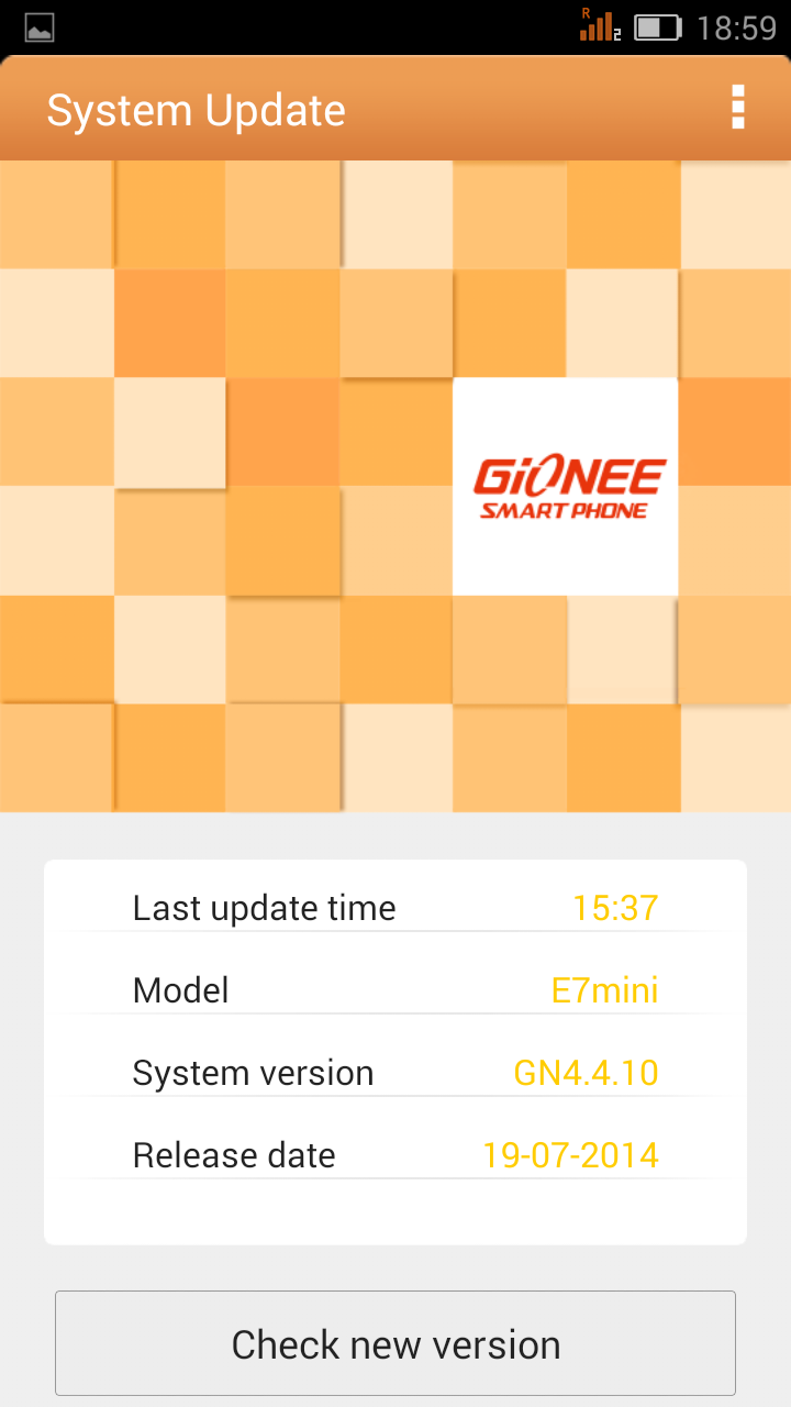 Gionee ELife E7 Mini gets Android KitKat update