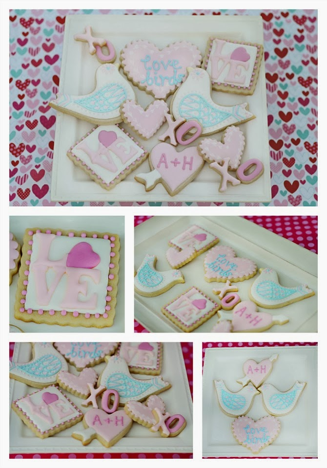 Sweet Elise: Love Birds Cookie Set