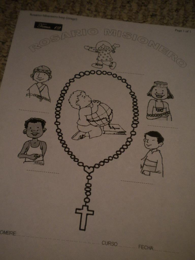 Familia Católica: Páginas para colorear del Rosario