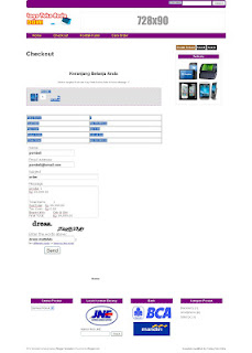 Template Toko Online Shopping Cart via Email