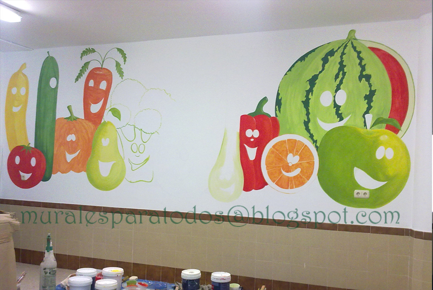 Murales para todos mural de frutas y verduras para el for Comedor de frutas para bebe