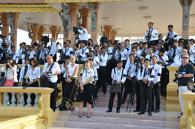 Press at Funeral of King Norodom Sihanouk, Phnom Penh, Cambodia