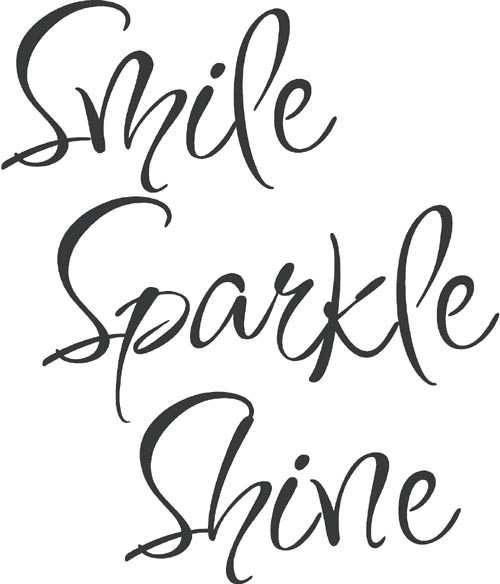 Shannon s Sparkles and SunshineThe Word Smile