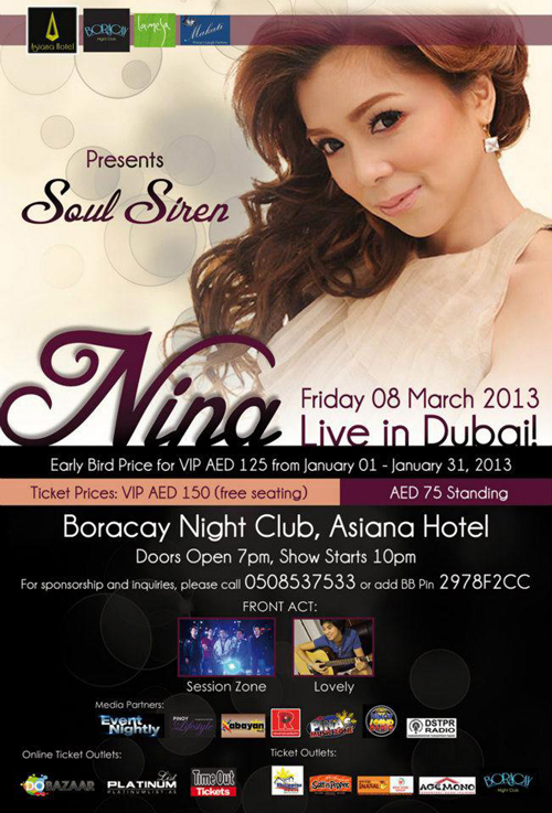 Nina Live in Dubai