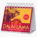 Calendrier Almaniak pensées et méditations du Dalai-Lama 2014