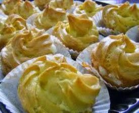 resep praktis (mudah) membuat makanan kue sus basah isi vla enak, lezat