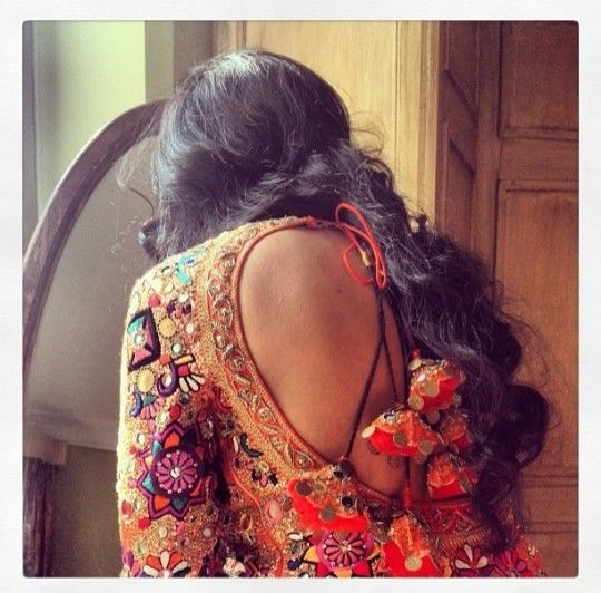 curvy backless blouse